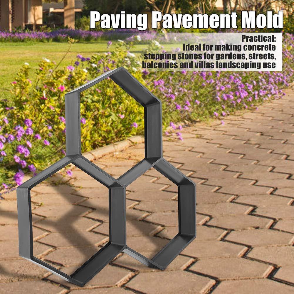 Zerodis Garden Path Maker, Molde para Cemento Hexágono Molde para Hormigón Molde para Hacer Pavimentos Caminos: Amazon.es: Hogar