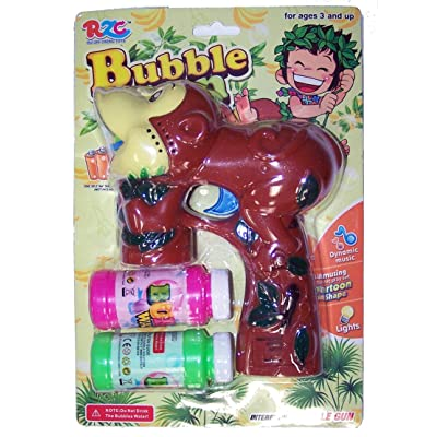 Brand New Novelty BROWN FOREST MONKEY Bubble Gun with Sound, 2 Bubble Bottles and Batteries: Everything Else [5Bkhe0202462]