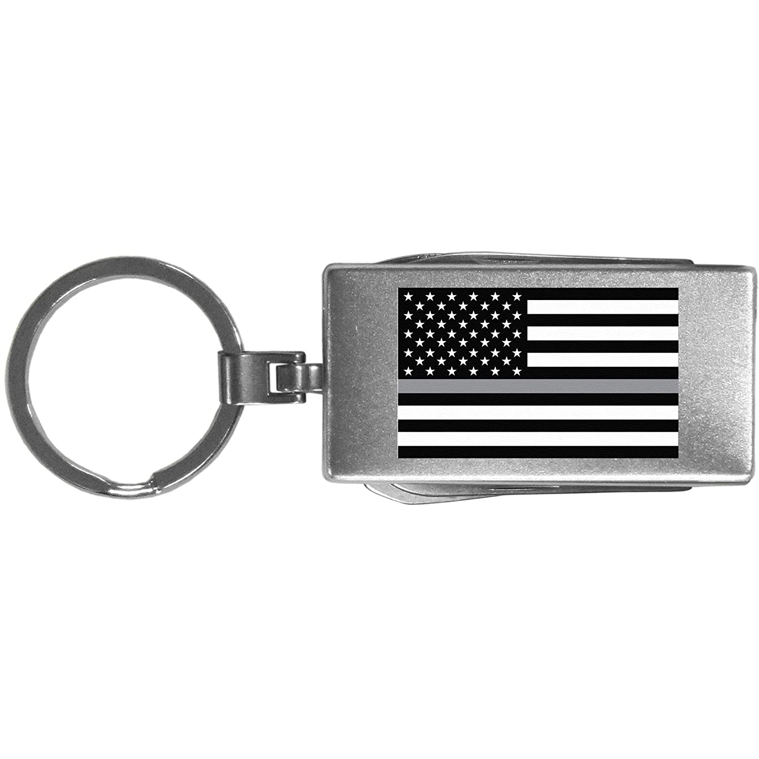 Grey Siskiyou SMTC106 Thin Gray Line National Guard Flag Multi-tool Key Chain