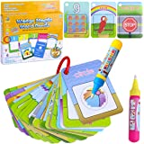 BBLIKE Water Colouring Doodle Pad-Shape Number Color Theme 2 Magic Water Pens Drawing Toy for Toddlers(26 Cards)