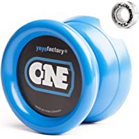 YoyoFactory ONE Yo-Yo - Blue (modern spinning yoyo, beginner to pro, 2 different level ball-bearings included, comes…