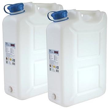 Ordentlich 2x Wasserkanister PROFI 20 Liter mit Hahn NEU Trinkwasser-Kanister  QQ18