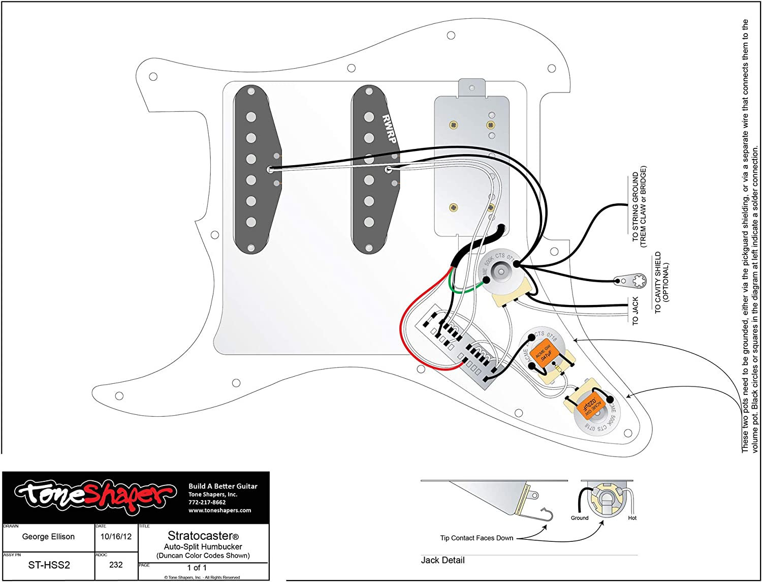 Fender Squier Strat Wiring Diagram