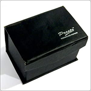 Presto Personalised 3D Laser Engraved Crystal Cube with LED Light Base , 50 x 80 x 50 mm, Transparent