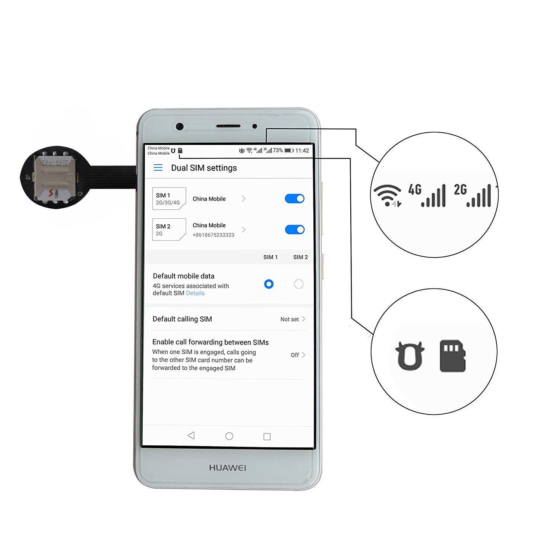 Amazon.com: Adaptador de tarjeta SIM dual Nano SD (2 piezas ...