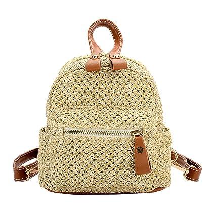 70af1b05cec6 Amazon.com: SHZONS Bamboo Handbag, Beach Shoulder Purse Bag Half ...