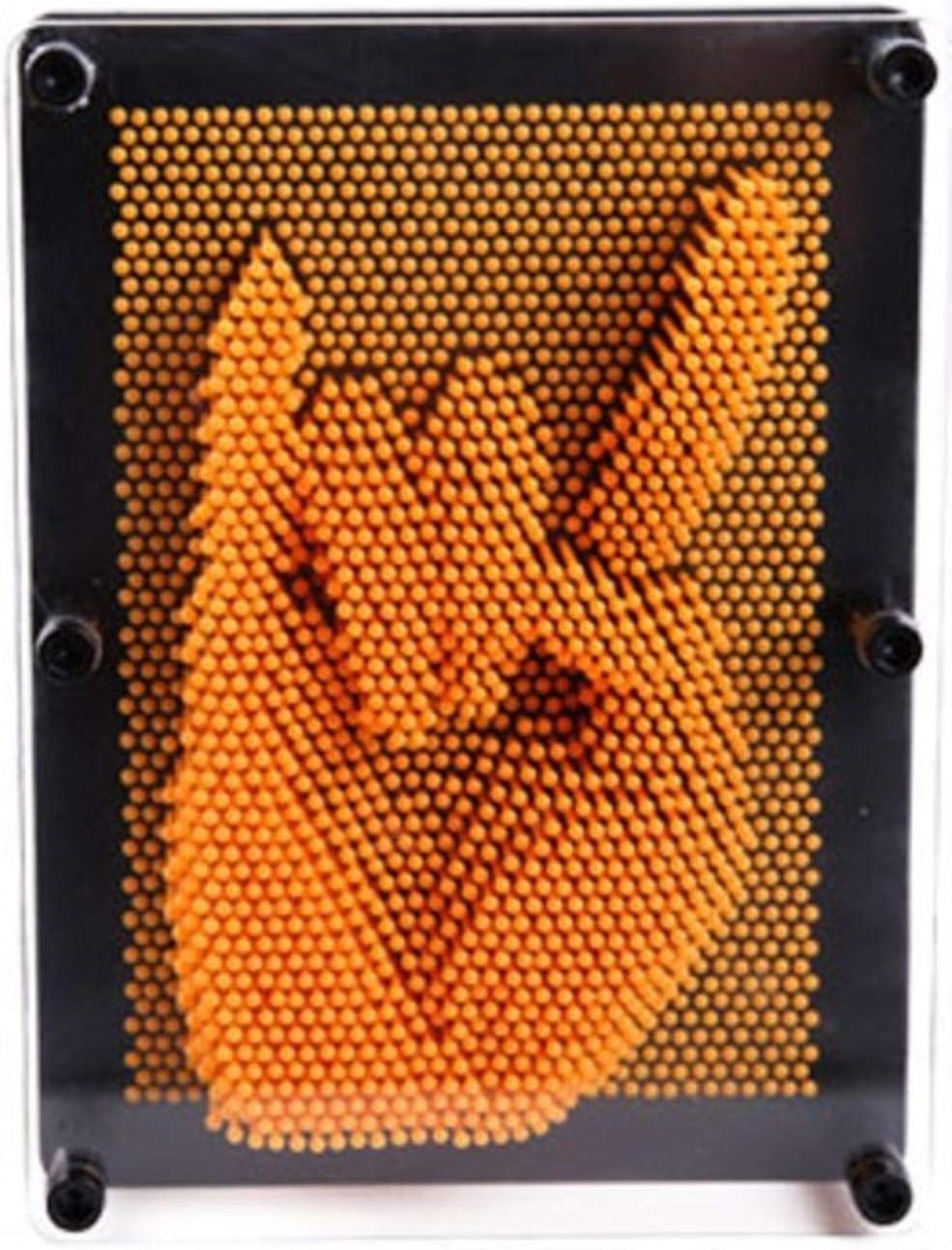 Pin Art 3D Escultura DIY Aguja Talla Mágica Estatuilla Molde Escritorio Juguete Decoración Hogar Maison Habitación Decorativa Adorno Decoración para el hogar, Naranja, XL: Amazon.es: Hogar