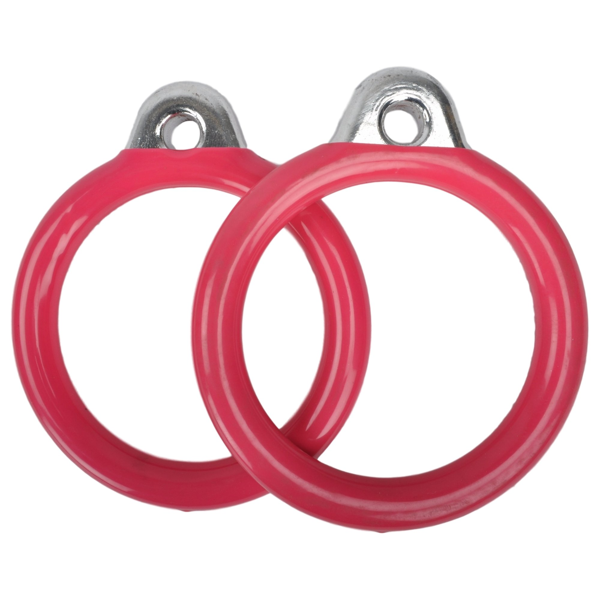 Swing Set Stuff Inc. Commercial Round Trapeze Rings with SSS Logo Sticker Playground Attachment, Pink by Swing Set Stuff Inc.