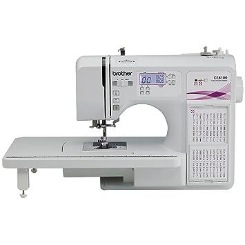 Brother ce8100 120-stitch Informatizado y Quilting máquina de costura de decoración del hogar: Amazon.es: Juguetes y juegos