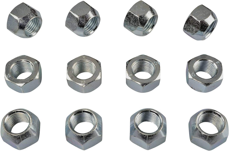25x34 SW19 Conique C/ône 60/° Aluminium Acier Jantes 20 Noir /Écrou de Roue M/ère M12x1