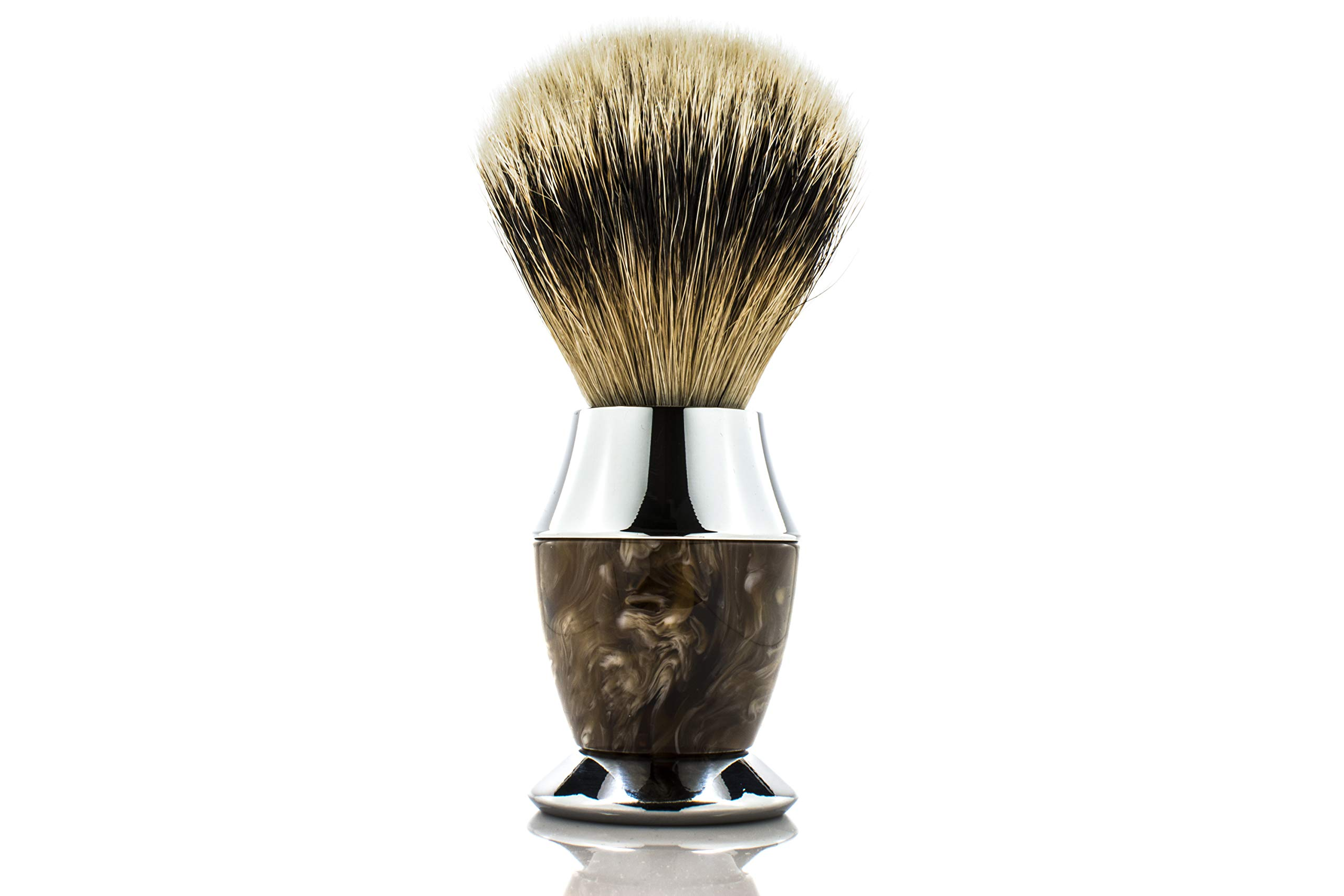 Maison Lambert 100% Silvertip Badger Bristle, Horn imitation Handle Shaving Brush - FREE US SHIPPING - Perfect gift for wet shavers for christmas, birthday or fathers day! by Maison Lambert