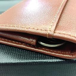Amazon Kerria J 山吹 小銭入れ 本革 ボックス型 コインケース メンズ 薄型 カード入れ 紳士 財布 使いやすい カードが入る 通勤のお友に便利 オレンジ 小銭入れ