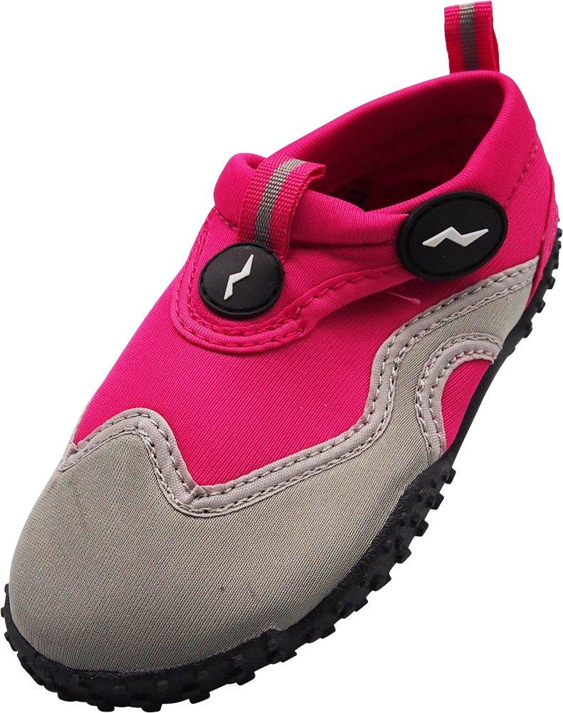 NORTY - Women's Skeletoe Aqua Water Shoes for Pool Beach, Surf, Snorkeling, Exercise Slip on Sock, Fuchsia, Grey 40314-10B(M) US