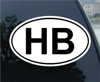 HB Euro Oval Bumper Sticker