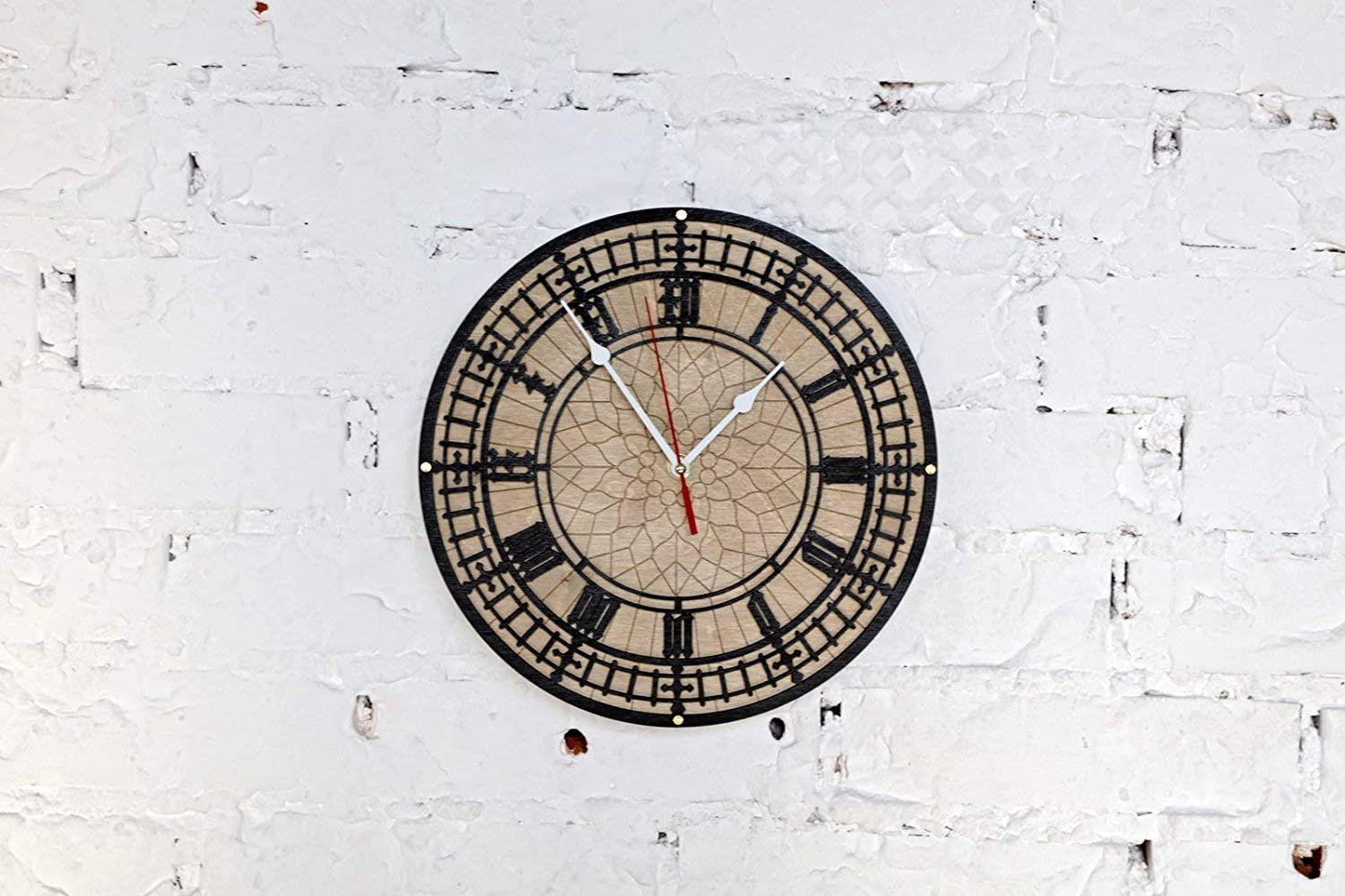 BIG BEN Handcrafted wooden wall clock Unique Vintage large housewarming one-of-a-kind victorian home decor gift london tower england