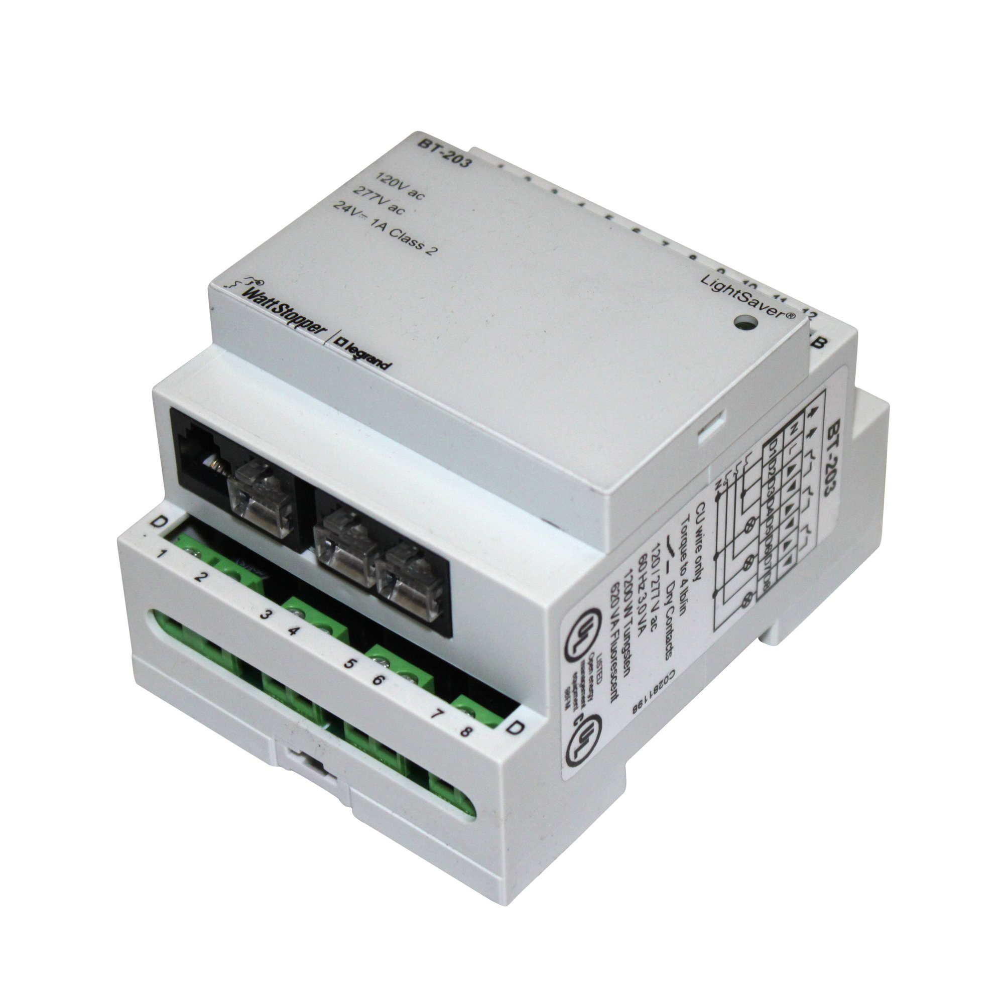 WattStopper Lightsaver Power Pack BT-203 powers the LightSaver LCO-203 and LCD-203 control modules