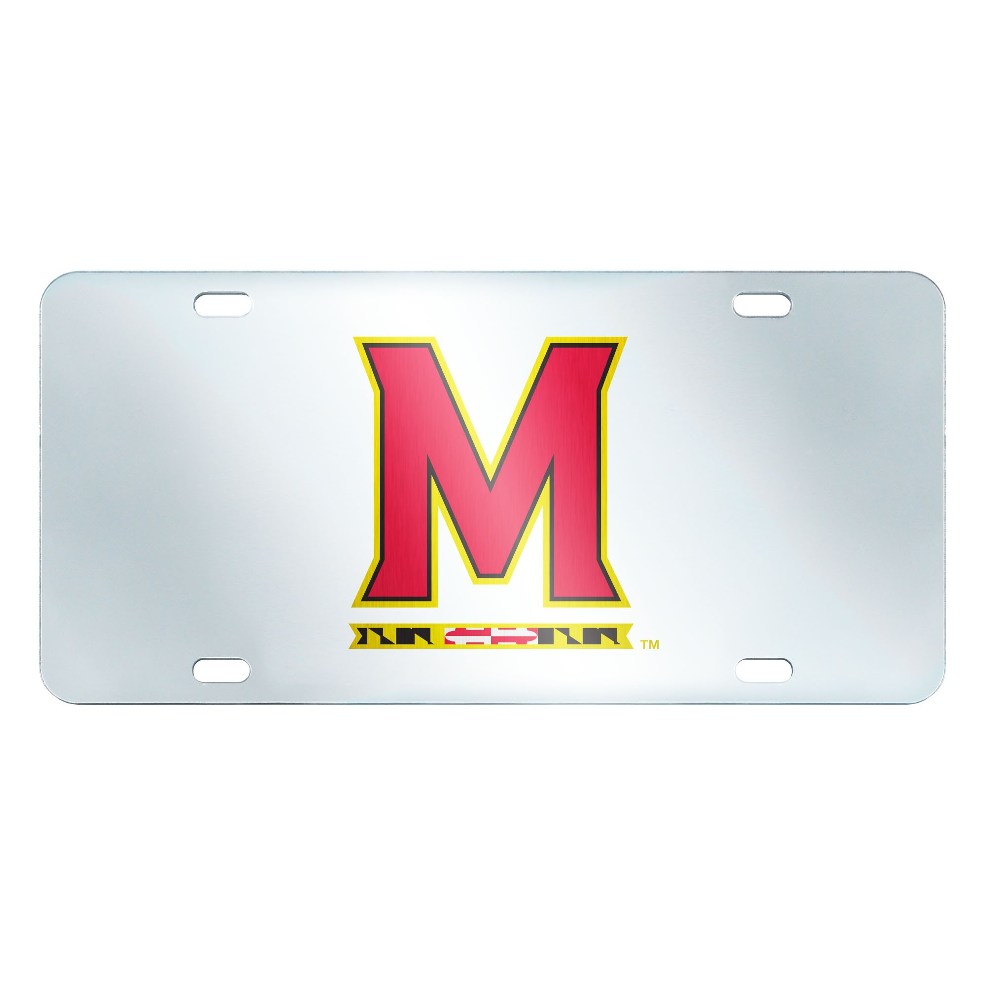 FANMATS NCAA University of Maryland Terrapins Plastic License Plate (Inlaid)