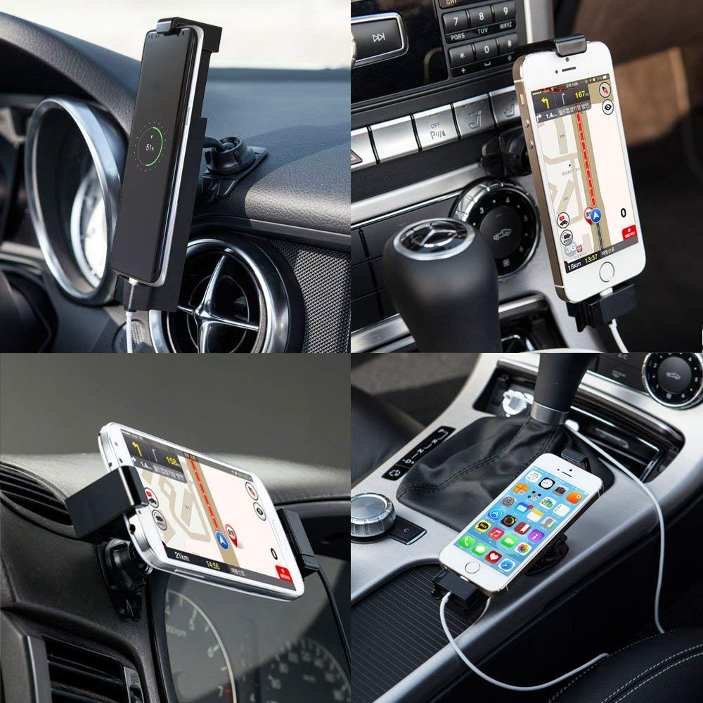Car Phone Holder//Phone Mount for Car with USB-C Cable Suitable for USB Type C Smartphones Sinjimoru Cell Phone Car Charging Mount Sinji Car Kit Type C Basic Package.