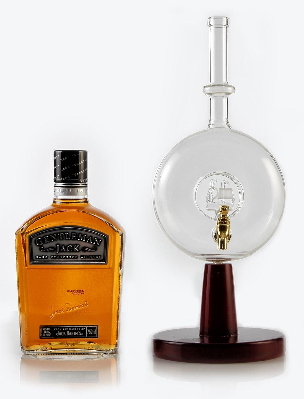 Bourbon decantador (cristal dispensador de licor) Alcohol bebida/dispensador de enjuague bucal para vino, whisky, Vodka: Amazon.es: Hogar
