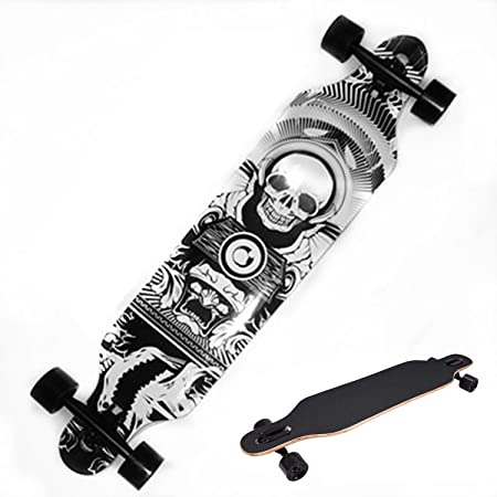 eshion 42 Inch Longboard Complete Outdoors Fun Adult Wooden Deck Skate Board
