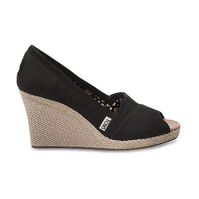 d62b957a59f Toms Wedges Canvas Pumps Womens Corbel Size 3 UK  Amazon.co.uk  Shoes   Bags
