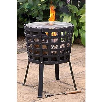 Gardeco Aragon Feuerkorb schwarz 45x45x60 cm
