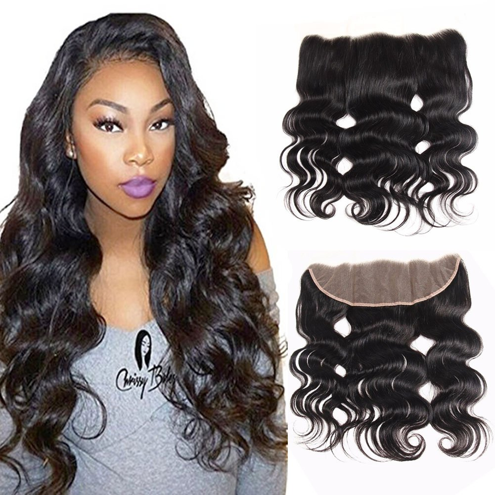 Amazon.com   UDU Free Part 13x4 Full Frontal Lace Closure Ear to Ear  Brazilian Body Wave Lace Front Closures Bleached Knots Nature Color Best  Remy Real ... f60dbe41a