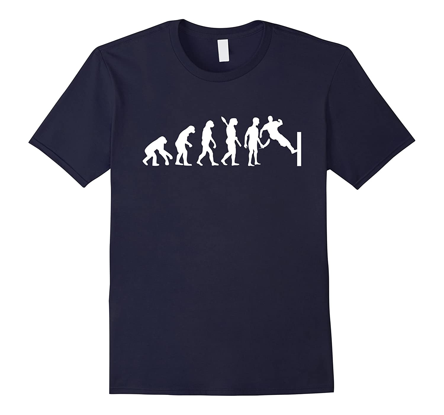 Funny Parkour T-Shirt Parkour Mankind Evolution Shirt-Vaci