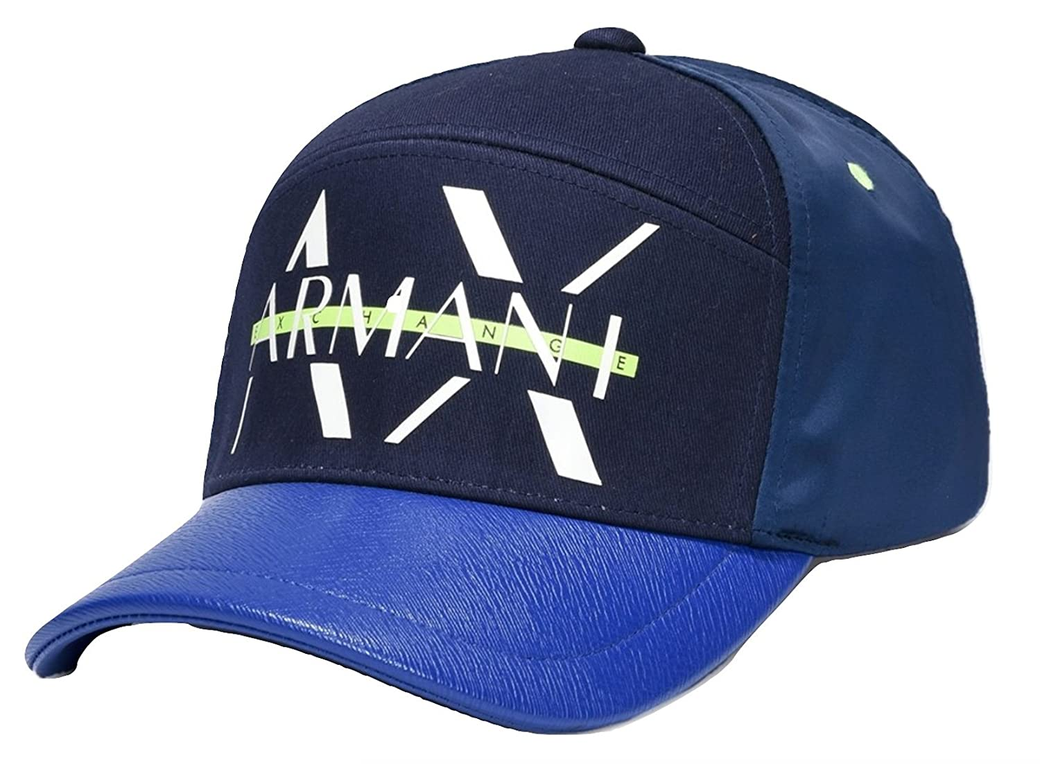 e1f18c2fc88 Armani Exchange AIX NEON STRIKETHROUGH Hat Cap