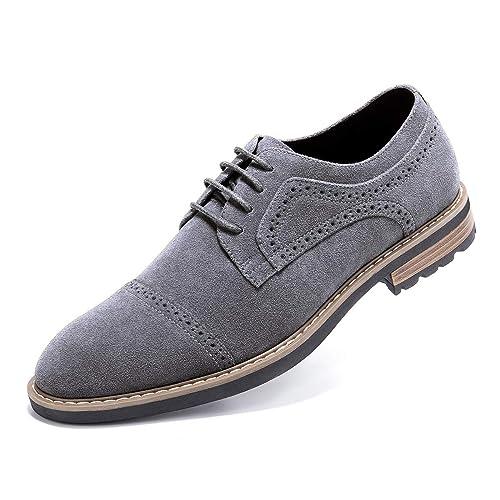 Mens Dress Shoes Lace Up Plain Toe Formal Oxford Shoes