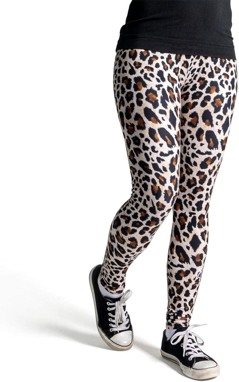 Leggings Coloridos Impresos - Design Estampado de Leopardo Talla /única cosey