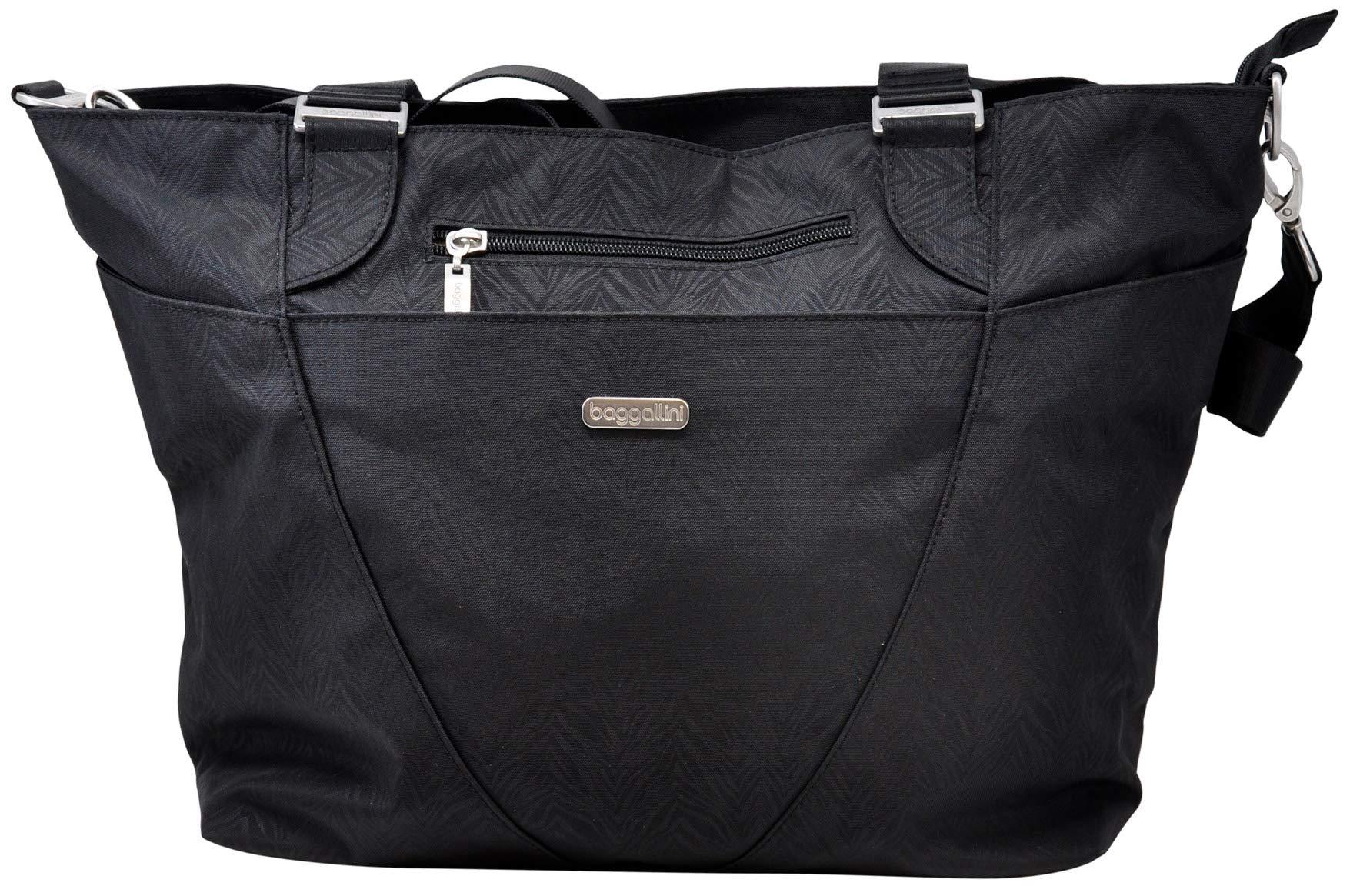 Baggallini Women Avenue Tote Bag, Black Zebra, One Size