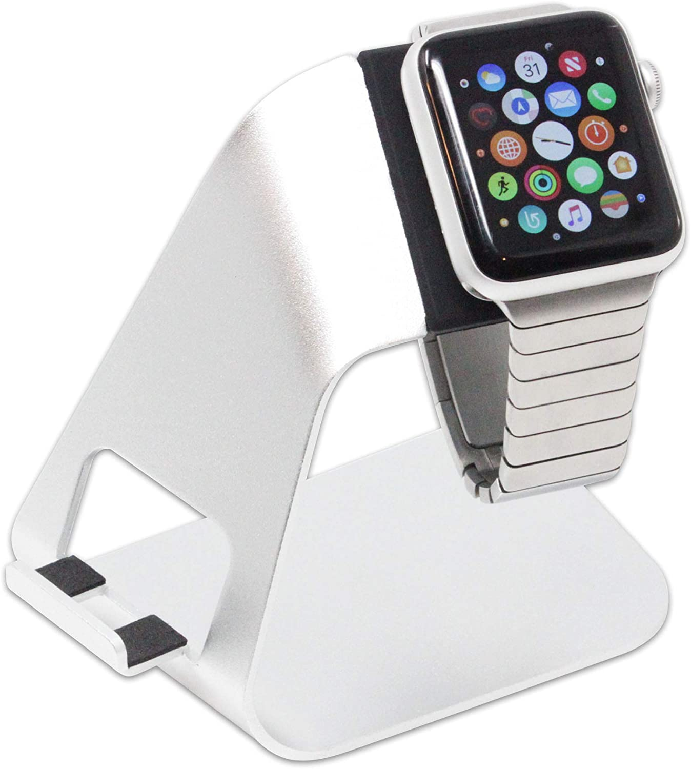 Hercules Tuff Onyx Designed for Apple Watch Stand with Night Stand Mode for Series 4 / Series 3 / Series 2 / Series 1 / 44mm / 42mm / 40mm / 38mm