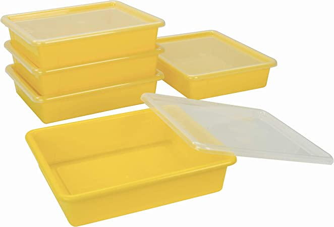 Semikolon Stackable Storage Tray in Plum Yellow 5 Compartments Brand New