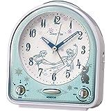 セイコー クロック 目覚まし時計 アナと雪の女王 アナログ セリフ 電子音切替式 アラーム Disney Time ディズニータイム 白 パール FD475W SEIKO
