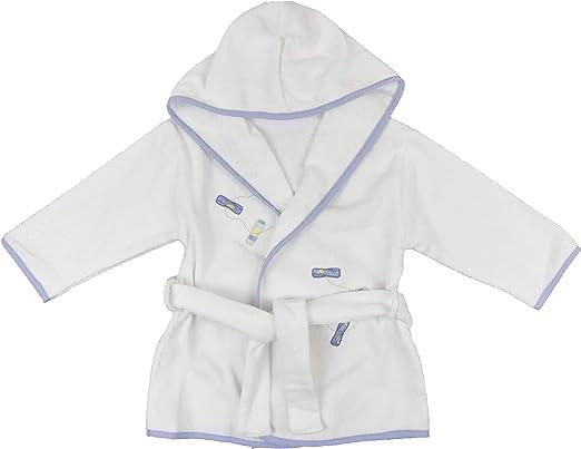 Albornoz para bebé, 100% algodón, de 6 meses a 3 años Blanco ...