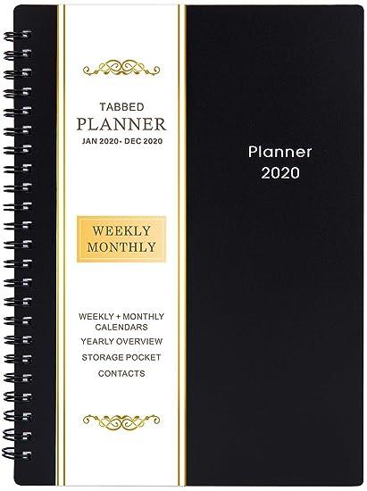 Agenda 2020 - Planificador Semanal y Mensual, 21 Páginas de Notas, Bolsillo de Dos Caras, 5