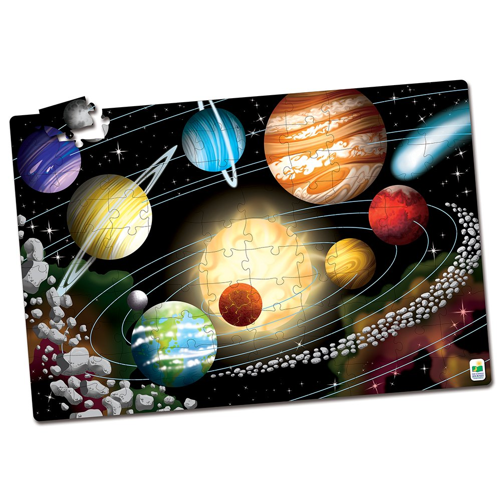 Space Theme Puzzle made our list of 10 fun activities and campfire games for families with kids