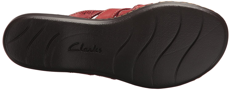 CLARKS Women's Leisa Field Platform B0762T9Q72 11 N US Red Leather