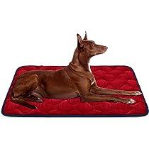 Hero Dog Cama Colchoneta Perro Grande Lavable, Cojines para Mascotas Antideslizante Vellón Almohadilla Suave 107x70 cm (Rojo L): Amazon.es: Productos para mascotas