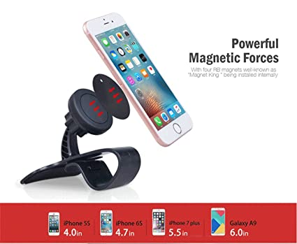 Soporte magnético para teléfono para salpicadero de coche, soporte universal para teléfono móvil con un