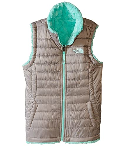 5878ee1957b The North Face Reversible Mossbud Swirl Vest Girls  Metallic Silver XL  The  North Face  Amazon.ca  Sports   Outdoors