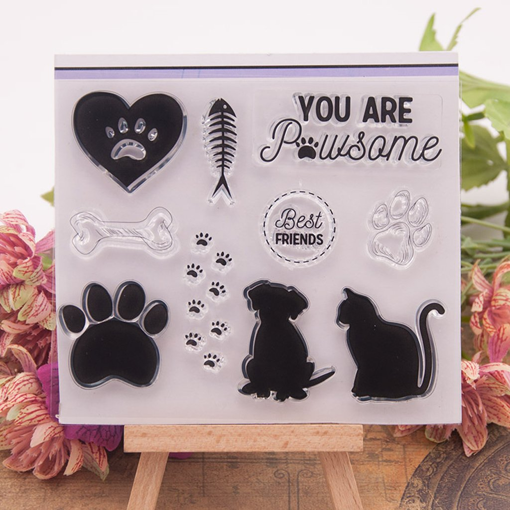 Haayward – Clear Stamps for Cards Making Sheets Scrapbook Rubber Silicone for Dog Cat DIY Scrapbooking Seal Photo Album Wish Decorative Kits by Haayward (Image #2)