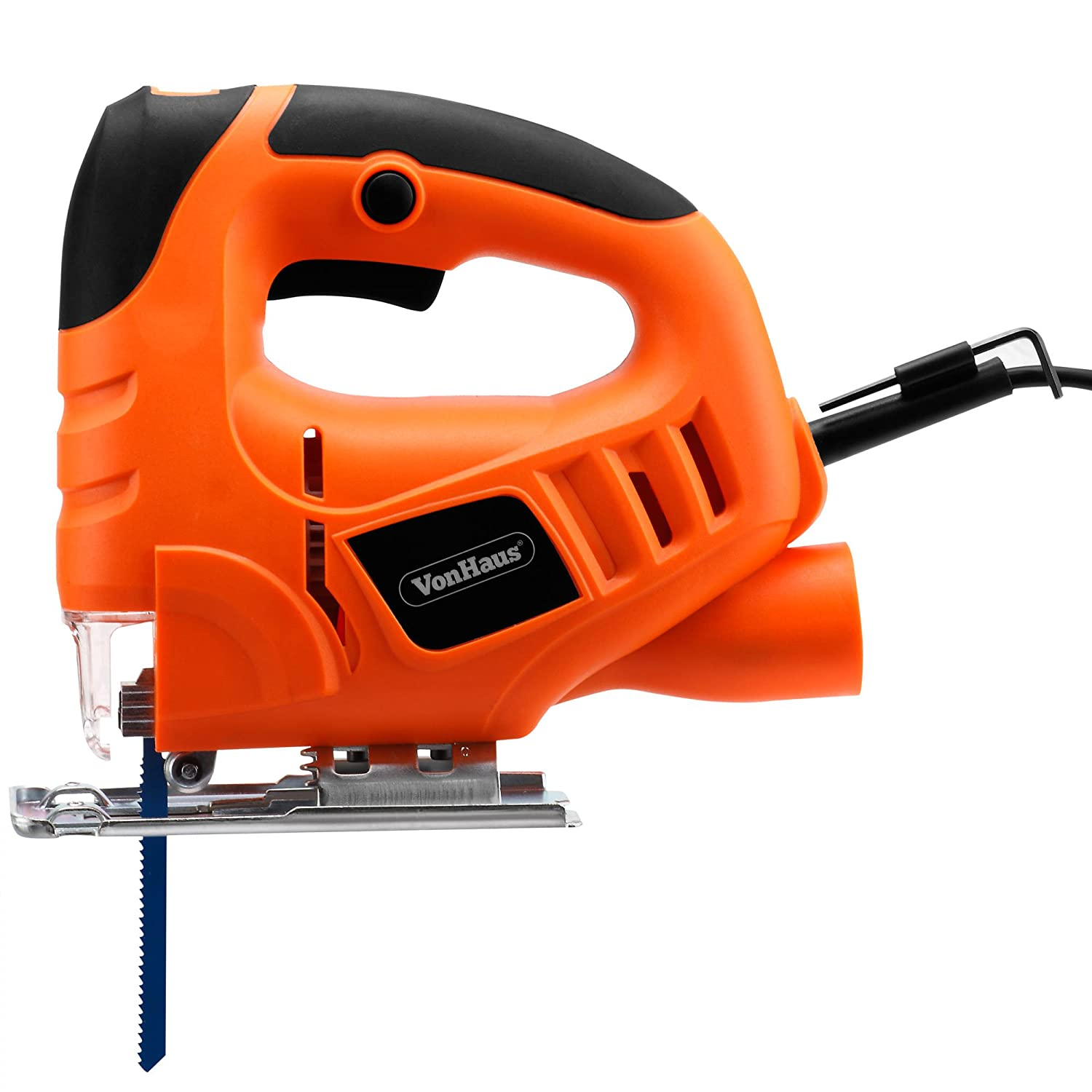 Vonhaus compact 400w electric jigsaw variable speeds splinter vonhaus compact 400w electric jigsaw variable speeds splinter guard dust extraction port 3 blades amazon diy tools greentooth Gallery