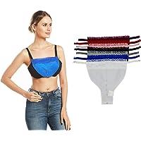 Motanar 7pcs Oversize Lady Lace Clip-on Mock Camisole Bra Insert Overlay Modesty Panel Vest XXL
