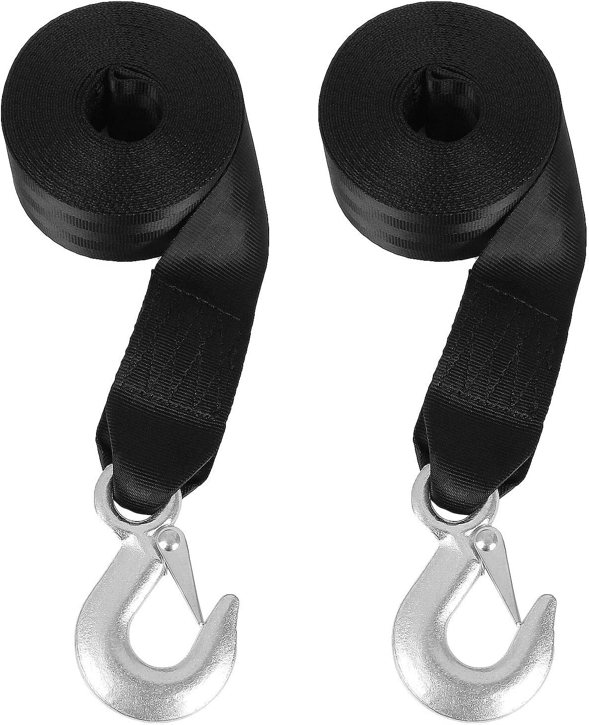 2 x 20 Fishing Jet Ski,Towing Replacement Securing Tie Down Marine Break Strength 6600lbs #NA OrdLive Boat Winch Strap,Heavy Duty Tow Straps with Hook and Loop End for Boat