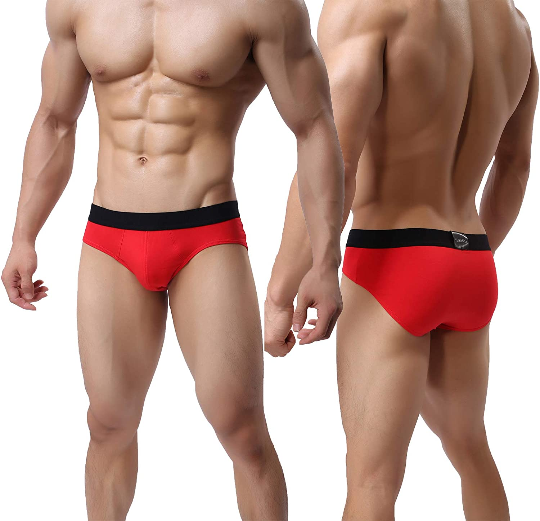 Tyhengta Mens Comfort Lightweight Briefs Soft Breathable Cotton Underwear X-Large