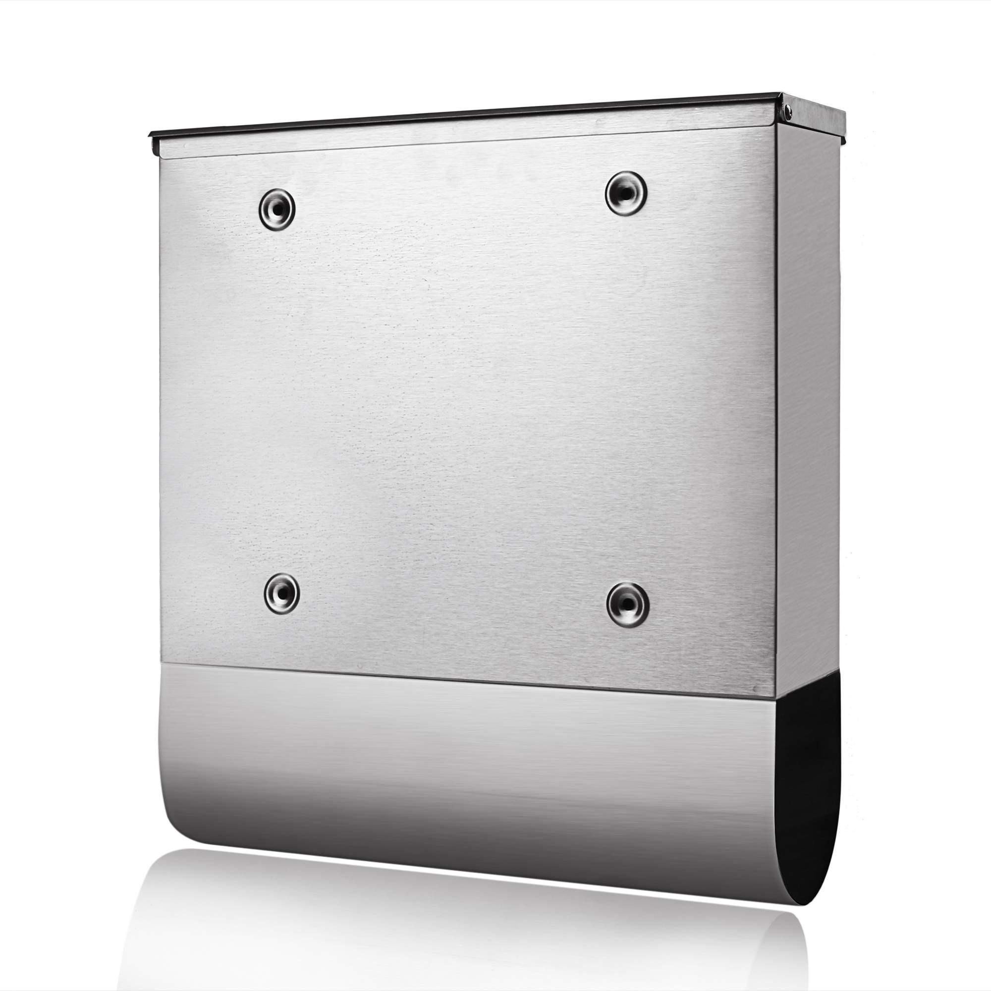 Stainless Steel Locking Mailbox Wall Mounted Letterbox [US Stock] by Rateim (Image #5)