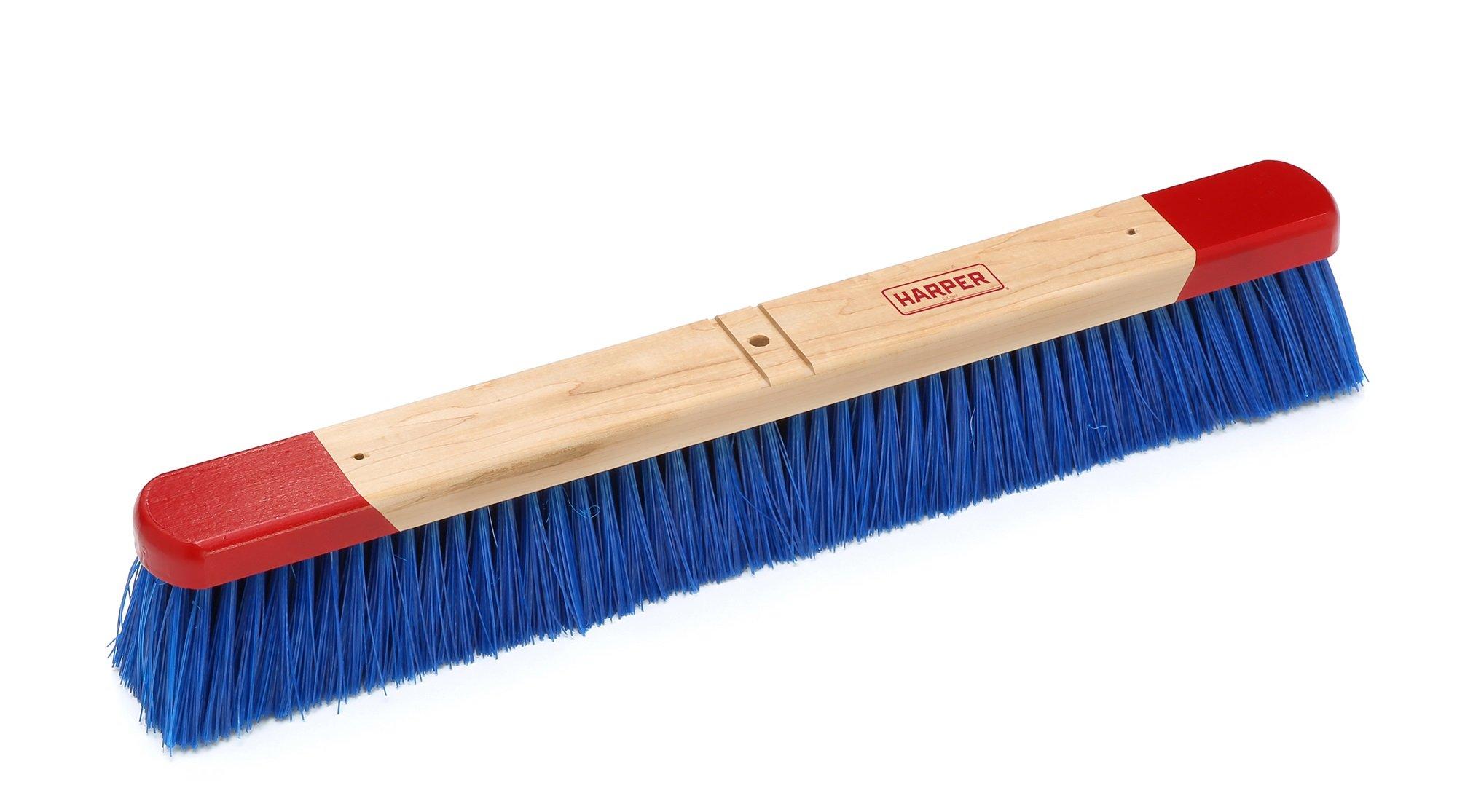 Harper Brush 792412 Broom Head, Polypropylene Fiber, Outdoor, Rough Wet or Dry Surface, Maple, 24'' (Pack of 6)