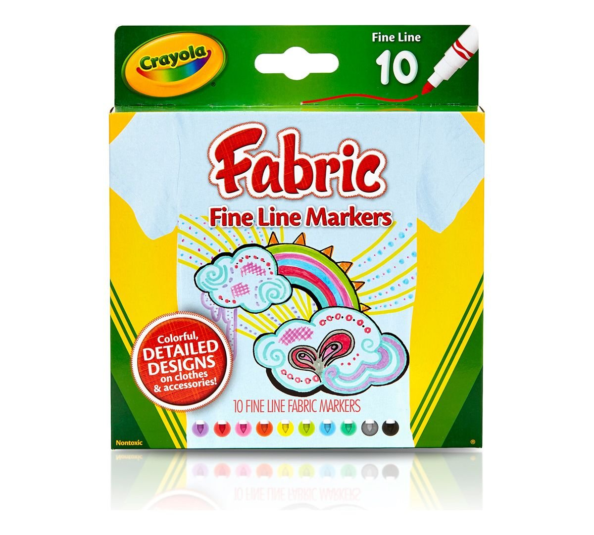 Crayola 10-Pack Fabric Markers 58-8623
